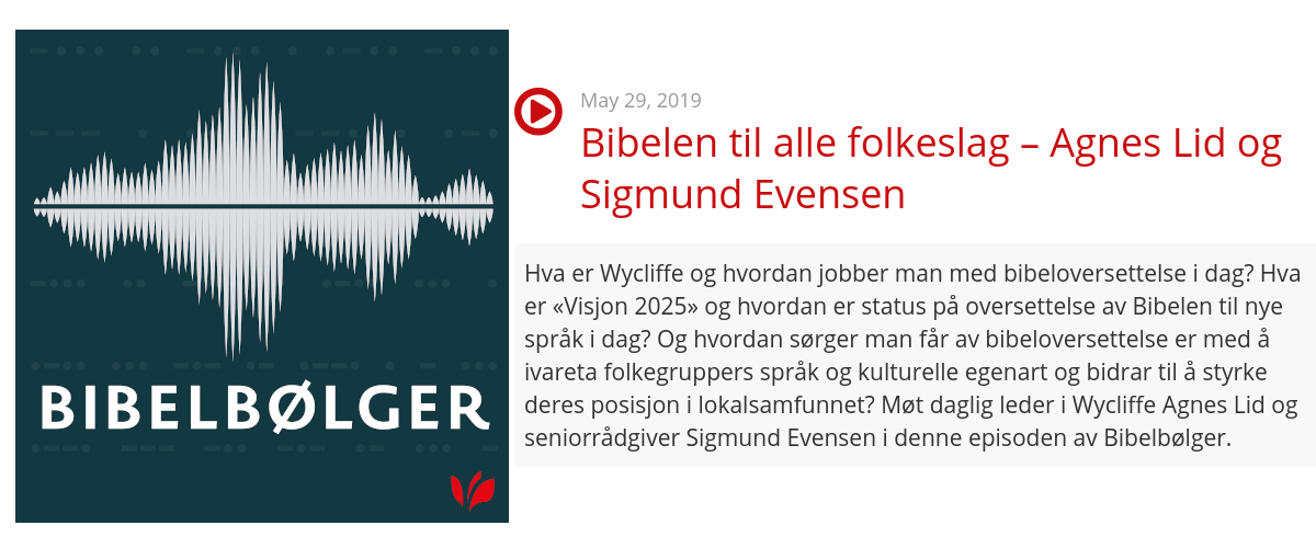 Hør podcast om bibeloversettelse